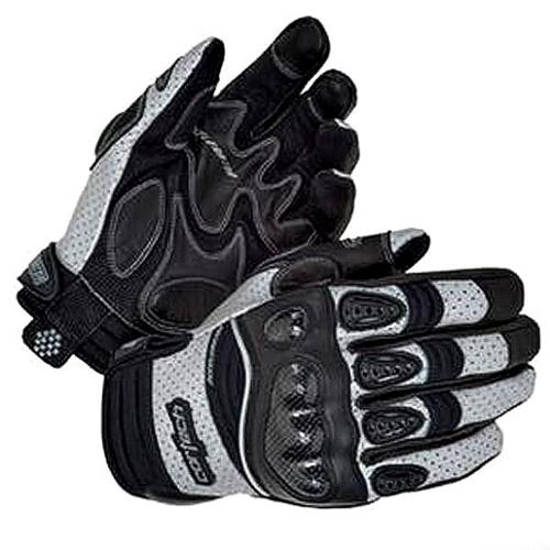 Cortech Accelerator Series 3 Leather Gloves Black/Silver
