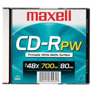 Maxell 48x CD-R Media - 700MB - 1 Pack