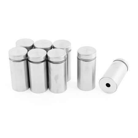 Uxcell 19mmx40mm Stainless Steel Advertisement Nails Glass Wall Connector Standoff (8-pack)