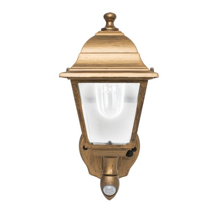 Copper Outdoor Wall Light - Battery-Powered Motion-Activated Wall Sconce in Golden Copper