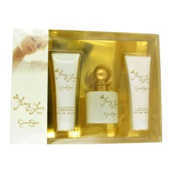 Fancy Love By Jessica Simpson Gift Set -- 3.4 Oz Eau De Parfum Spray + 3.4 Oz Body Lotion + 3.4 Oz Shower Gel For Women