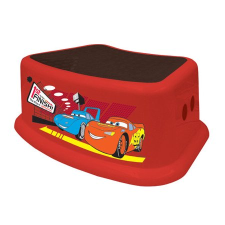 Ginsey 1 Step Plastic Disney Cars Step Stool With 200 Lb