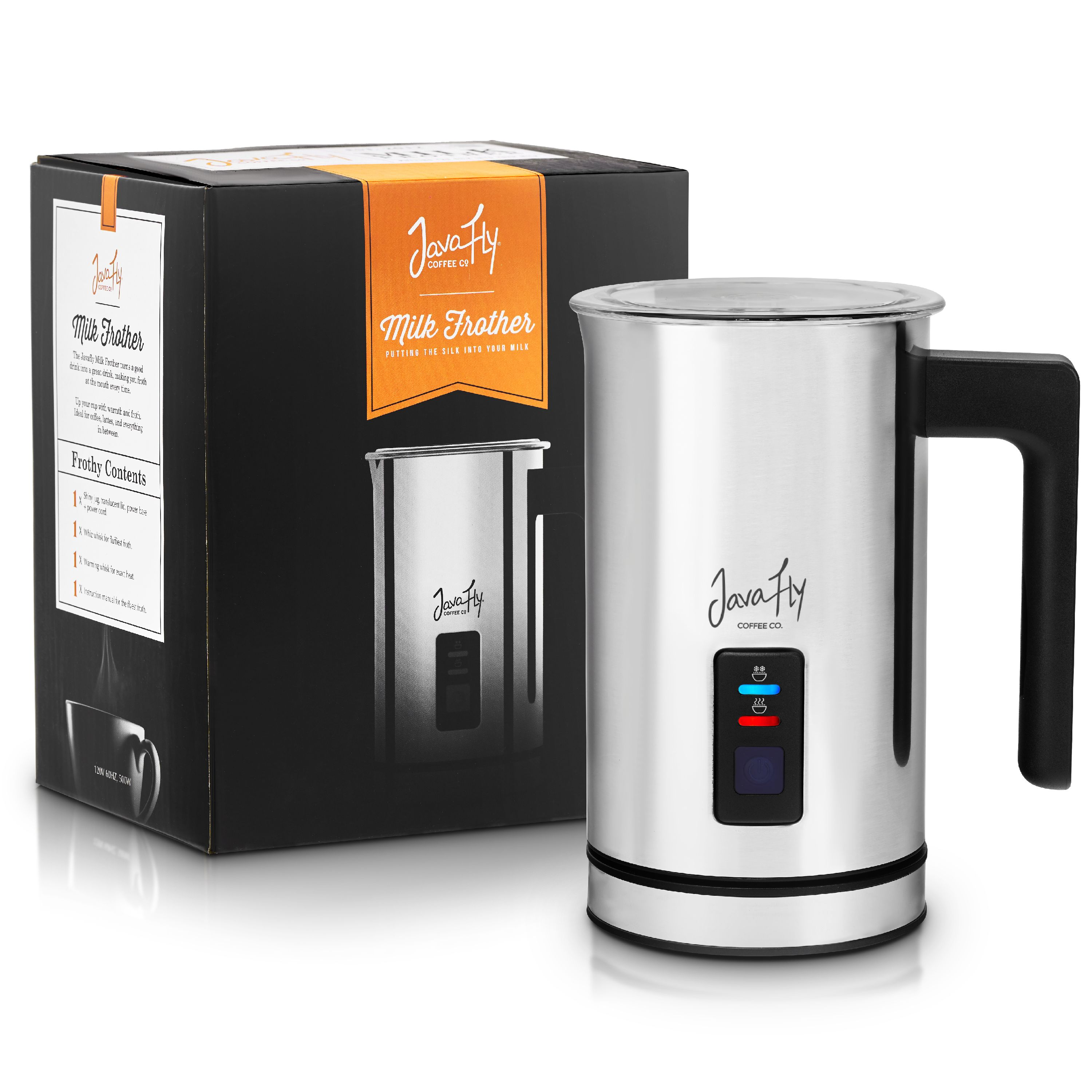 Milk Frother and Milk Steamer from JavaFly for Cafe Latte