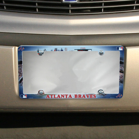Atlanta Braves Sports Plate - Atlanta Braves Field Plastic License Plate Frame - No Size