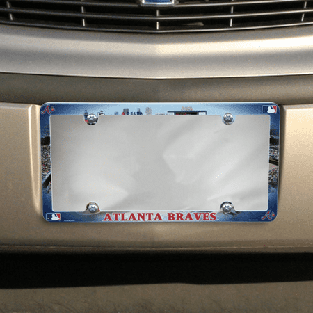 Atlanta Braves Field Plastic License Plate Frame - No Size