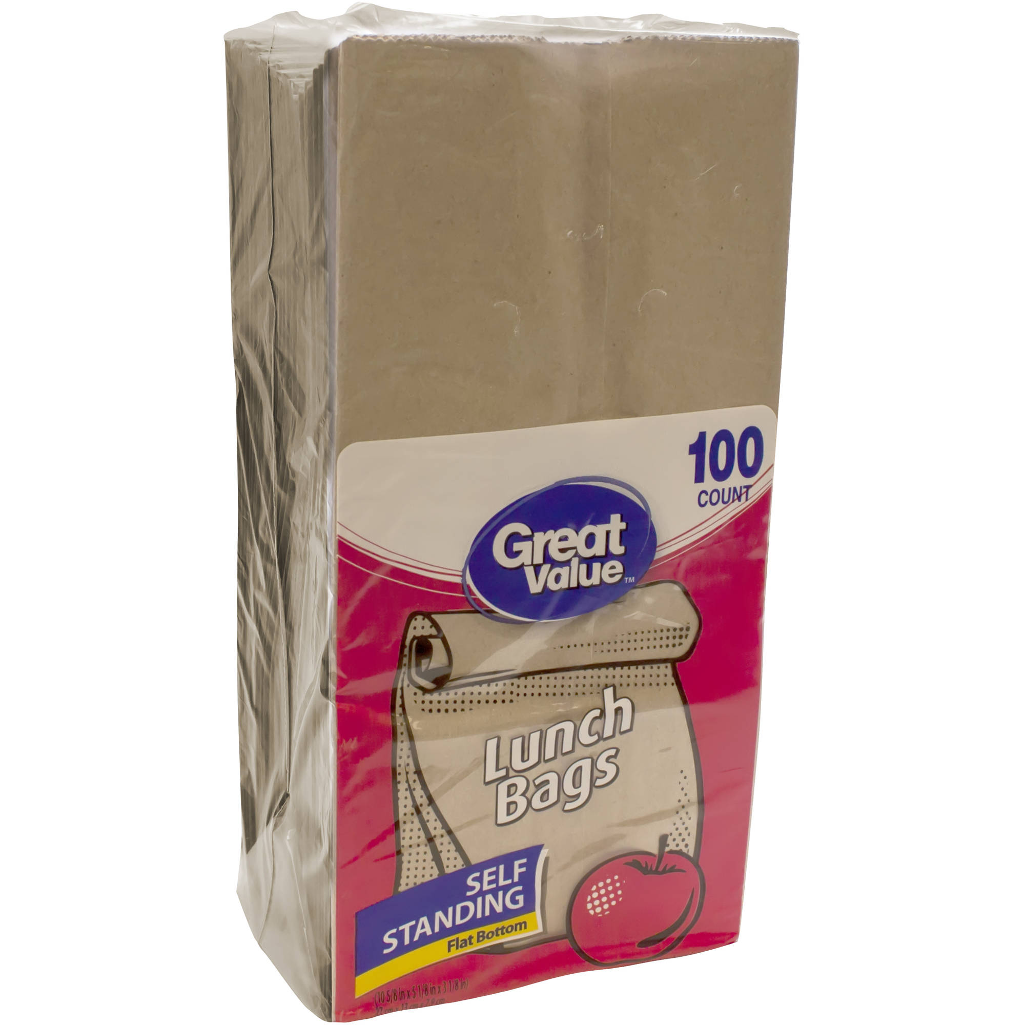Great Value Lunch Bags, 100 count