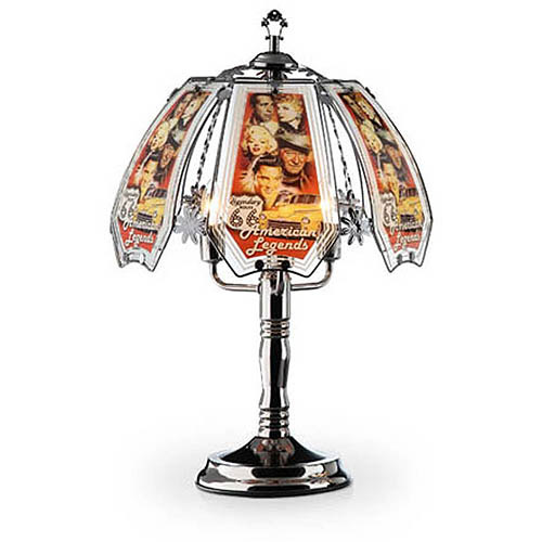 "OK Lighting 23.5""H American Legend Theme Touch Lamp, Black Chrome"