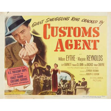 Fossilized Customs Halloween (Customs Agent POSTER Movie Half Sheet A)
