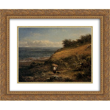 Benjamin Williams Leader 2x Matted 24x20 Gold Ornate Framed Art Print 'Harvest Time on the Coast of Arran' (Track Frame Leader)