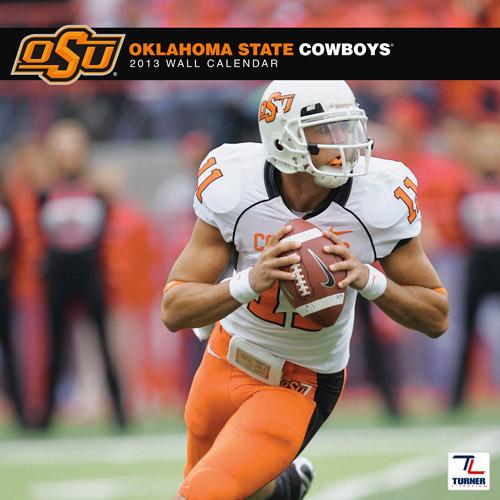 "Turner Licensing 2013 12"" x 12"" Team Wall Calendar, Oklahoma State Cowboys"