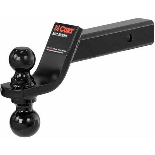 """Curt Manufacturing Cur45644 Reversible Ball Mount with 2"""" & 2 5/16"""" Balls"""