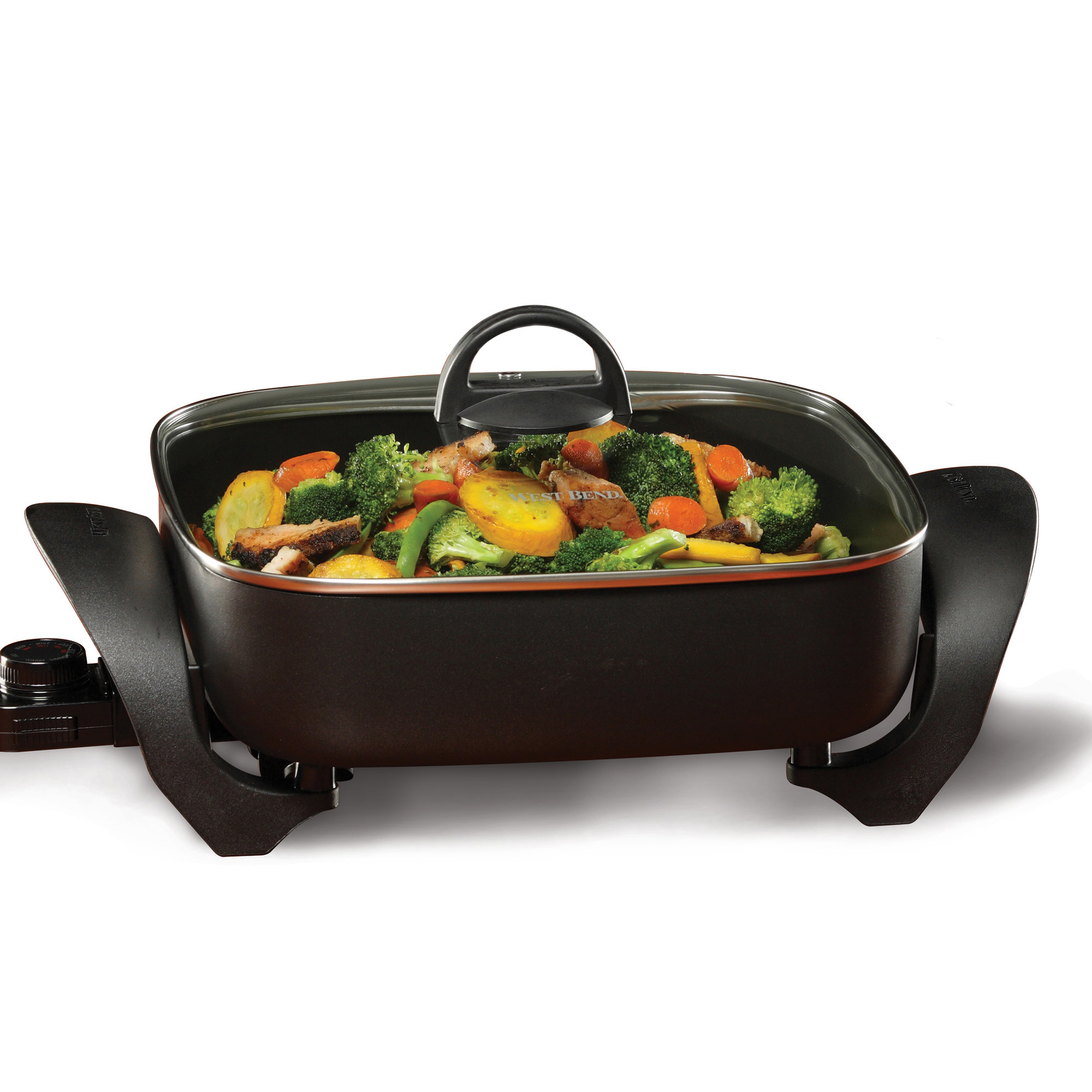 West Bend 72212 Extra-Deep 12-Inch Square Skillet