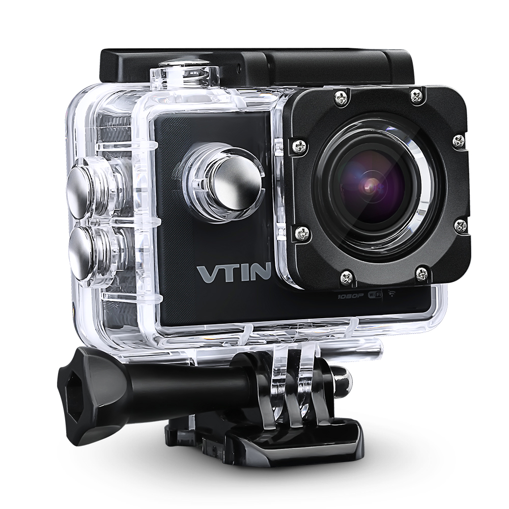 2.0 Inch Full HD 1080p 12MP WIFI Action Camcorder 170°Wide-angle Glass Lens Mini Waterproof 30m Diving Sports Video Camera with 2 batteries