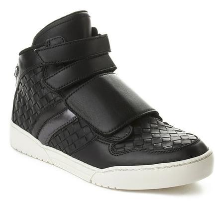 Bottega Veneta Men's Intrecciato Leather High Top Sneaker Shoes Black (Sneaker Men Dolce)