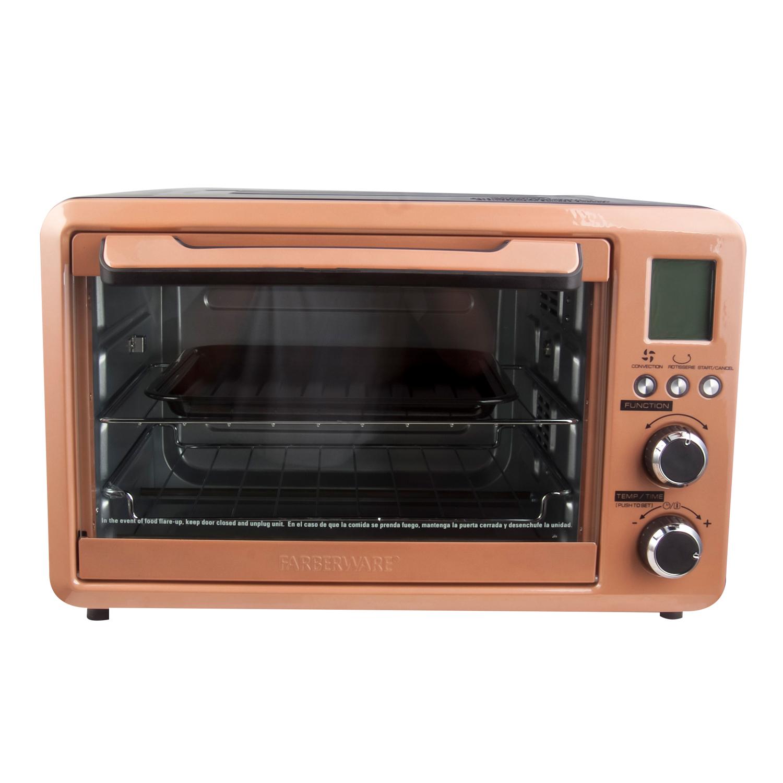 Farberware Digital 6-Slice Toaster Oven, Sunset Copper