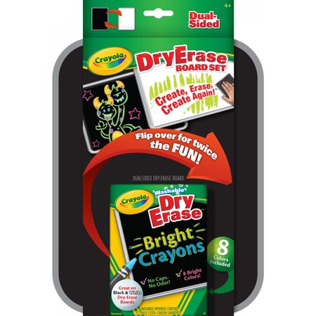 crayola dual sided dry erase crayons board set