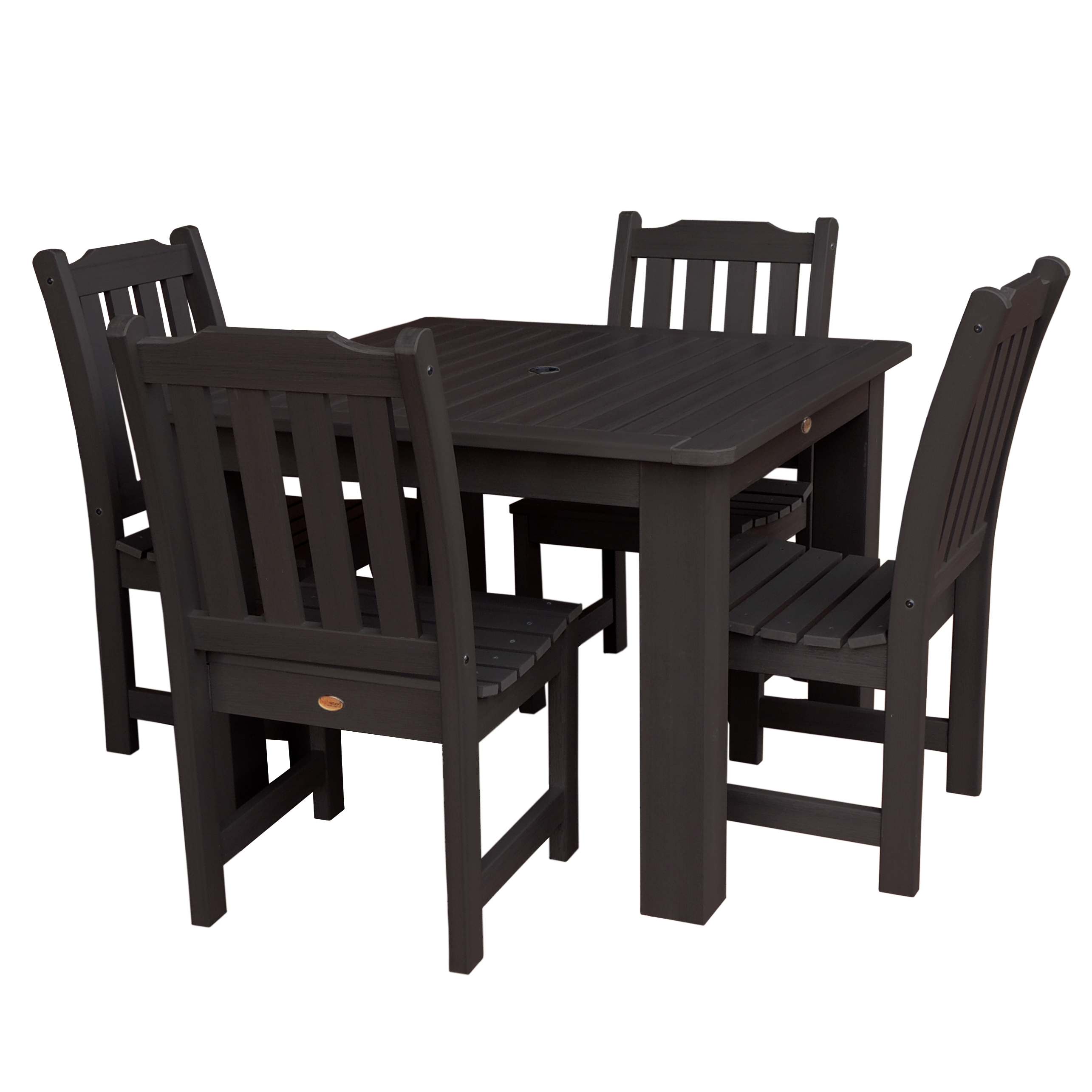 highwood® Eco-Friendly Recycled Plastic Lehigh 5pc Square Dining Set