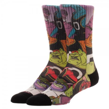 Crew Socks - Space Jam - Villains Sublimation New Licensed (Best Space Jam Juice)