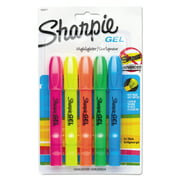 Sharpie® Gel Highlighters, Assorted Colors, 5 Pack