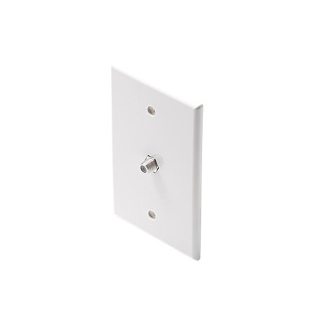 Steren 200-411 Mid-size Coaxial Faceplate - White (200411wh)
