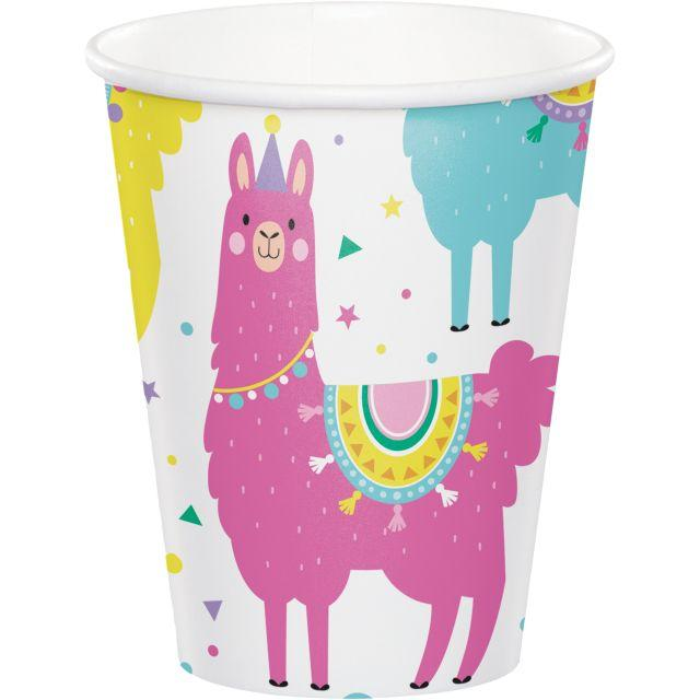 PINK BABY SHARK DooDooDoo Happy Birthday Party hot cold PAPER CUPS 8pc 9oz