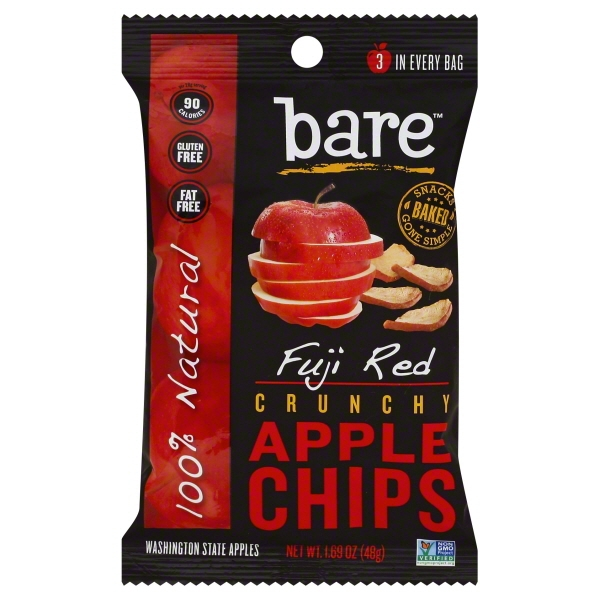 Bare Naturally Baked Crunchy Fuji & Reds Apple Chips, 1.7 Oz.