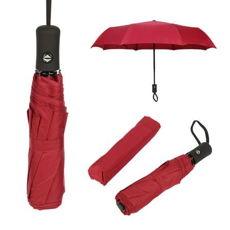 Automatic Stick Umbrella (Dazone Full Automatic Umbrella Anti-UV Sun/Rain Windproof 3 Folding Compact Umbrella US)