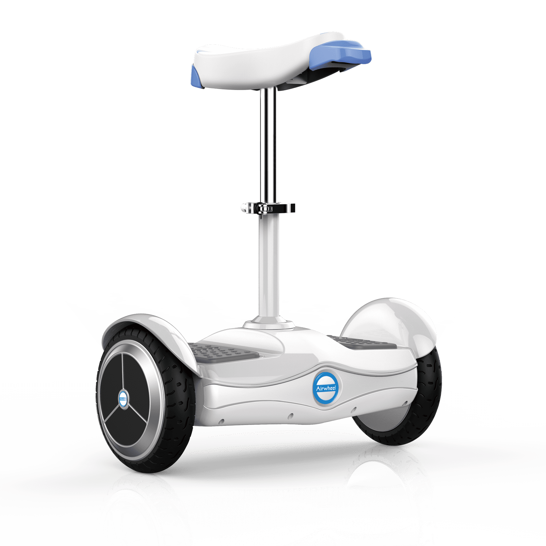 Airwheel S6 Motorized Mobile Seated, Self-Balancing Electric Scooter by