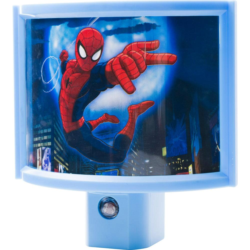 Marvel Ultimate Spider-Man LED Night Light, Curved Shade ...
