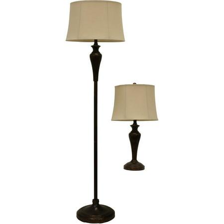 Urban bronze table and floor lamp set walmartcom for Floor and table lamp set uk