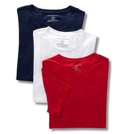 Men's Tommy Hilfiger 09T3147 Cotton Stretch Crew Neck T-Shirts - 3 Pack (Hilfiger Kids)