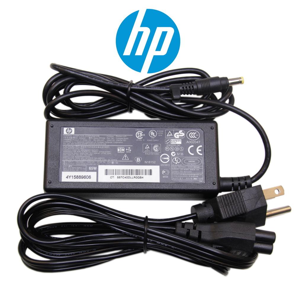 Original HP 18.5V 3.50A 65W HP AC Adapter HP Laptop Charger HP Power Cord for Compaq Presario A900 A900es KM060EA; Compaq Presario A900 A920en KM057EA; Compaq Presario A900 A920eg KM051EA Series