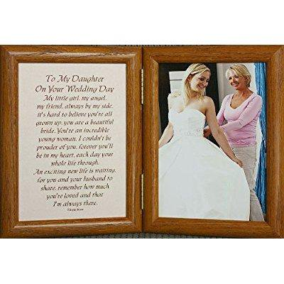 5x7 hinged to my daughter on your wedding day poem frame gift for bride from mother or father!