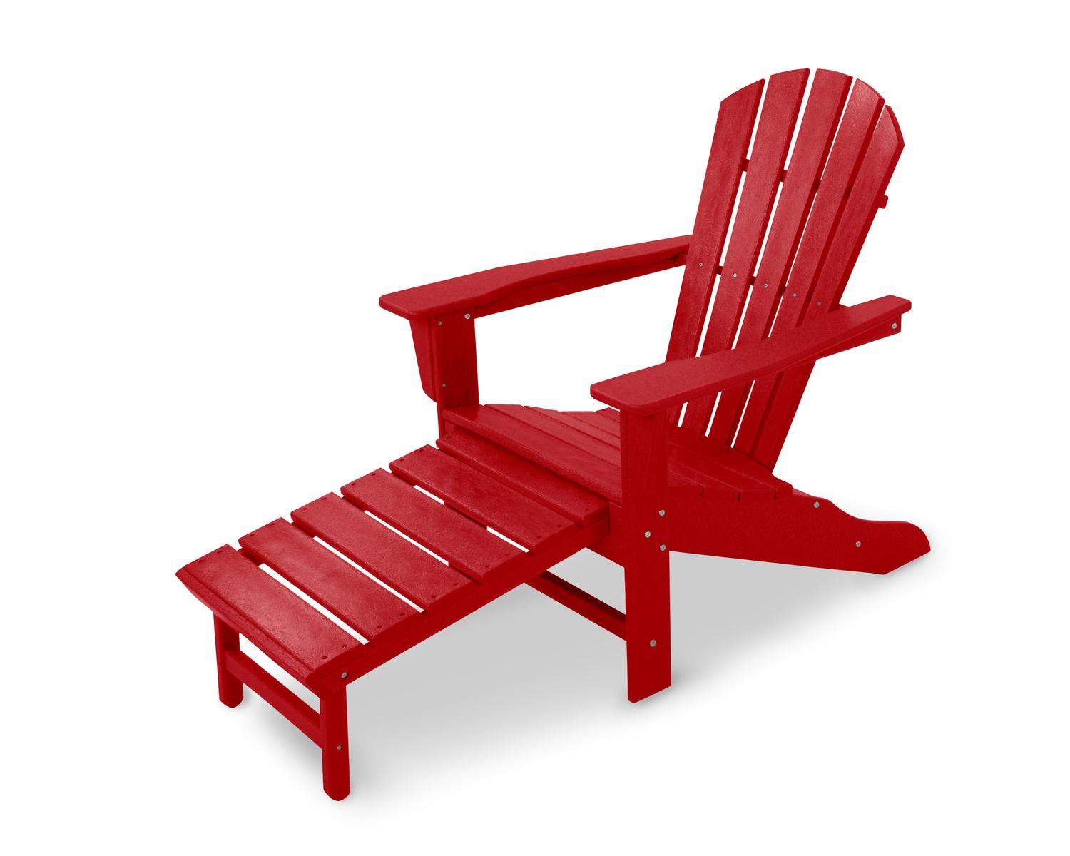 """37.5"""" Recycled Earth-Friendly Adirondack Chair w  Pull Out Ottoman Aruba by Eco-Friendly Furnishings"""
