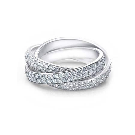 2 3/4ct Rolling Ring Diamond Pave Eternity 14K White Gold - Eternity Rolling Ring