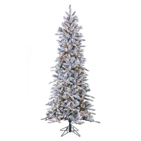 kurt adler 7 flocked alaskan slim christmas tree