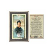 Sterling Silver St. Josephine Bakhita on a 18 inch Curb Chain with a Prayer to St Anthony Mary Claret Prayer Card