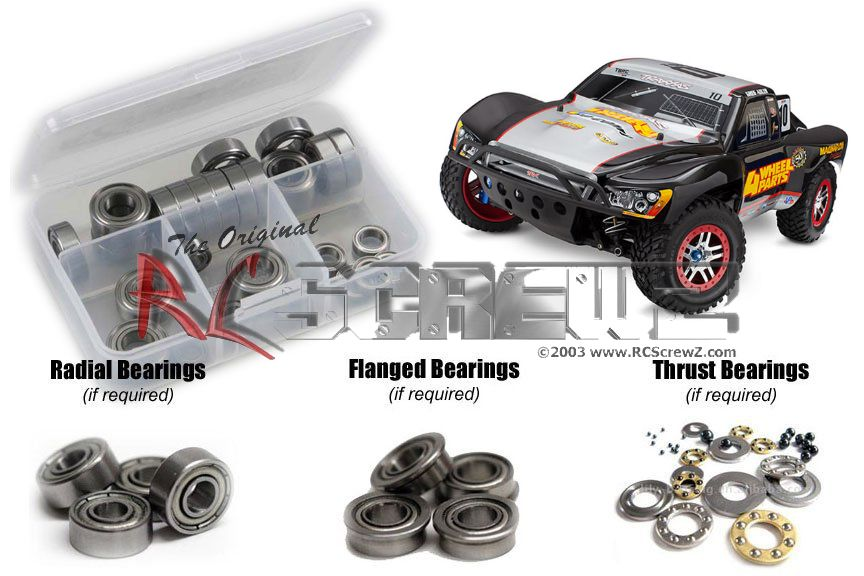 RCScrewZ Traxxas Slash Ultimate TSM Ed. Metal Shielded Bearing Kit #tra074b by RCScrewZ