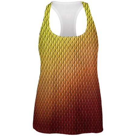 Halloween Red Fire Dragon Scales Costume All Over Womens Work Out Tank - Dragon City Halloween Island 2017