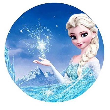 Frozen Themed Birthday Cake (Frozen Elsa Anna Edible Image Photo Cake Topper Sheet Birthday Party - 8 Inches Round -)