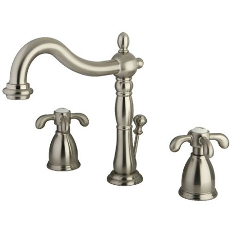 Kingston Brass French Country Widespread Bathroom Faucet with ABS Pop-Up Drain
