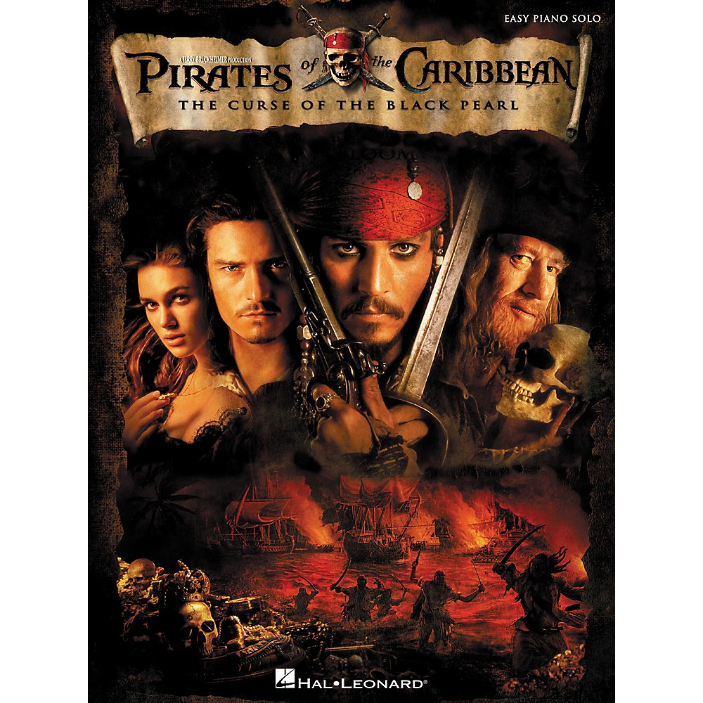 Hal Leonard Pirates Of The Caribbean - The Curse Of The Black Pearl For Easy Piano Solo
