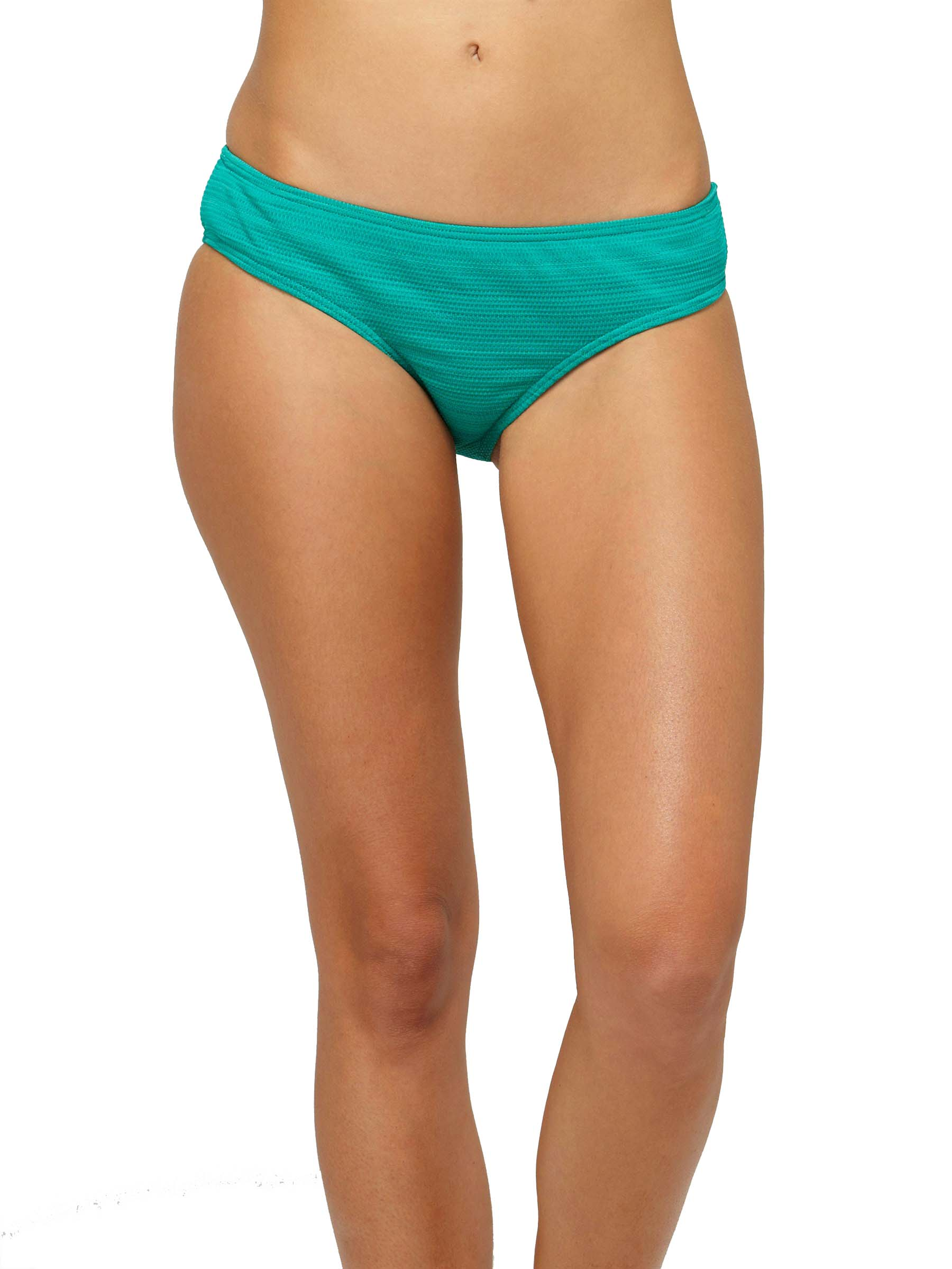 Roxy Juniors Naturally Beautiful 70s Brief Bikini Bottom-Green