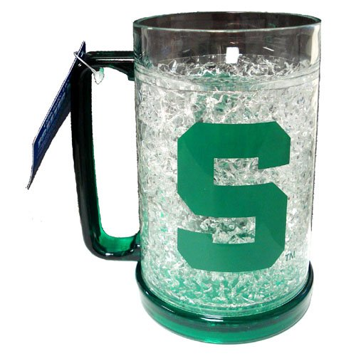 NCAA Michigan State Spartans 16-Ounce Crystal Freezer Mug