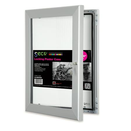 SECO Stewart Superior Locking Indoor/Outdoor Poster Case, Shatterproof, Rustproof 40