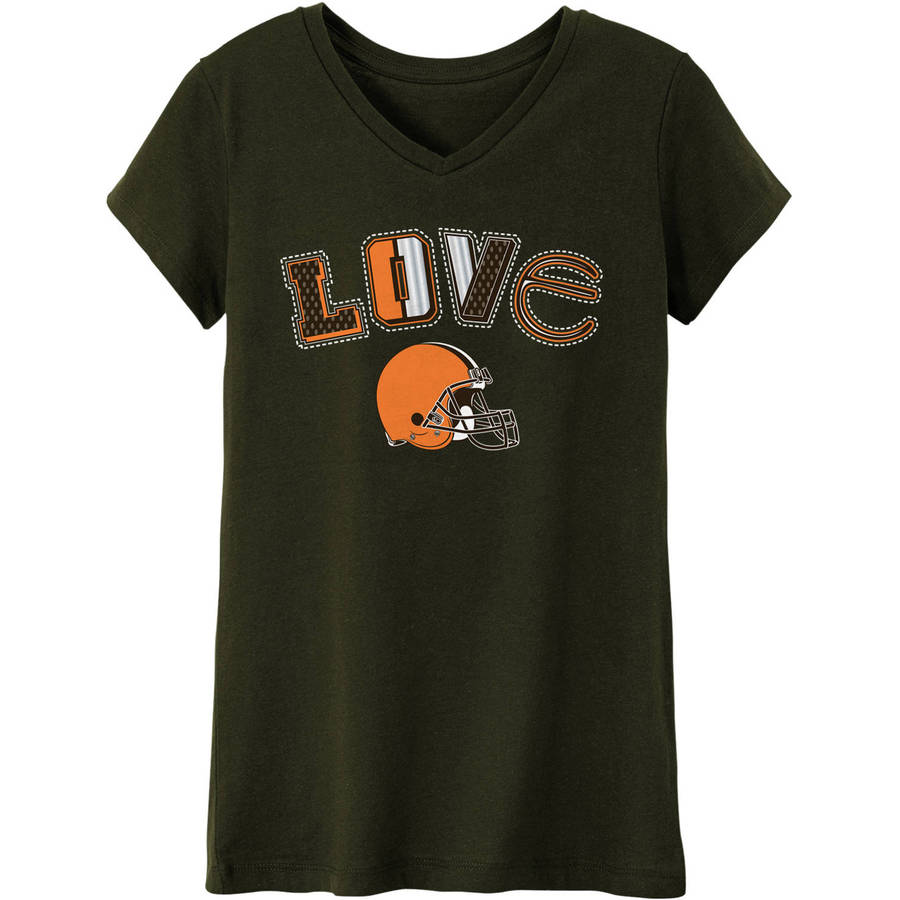 NFL Cleveland Browns Girls Short Sleeve Cotton Tee