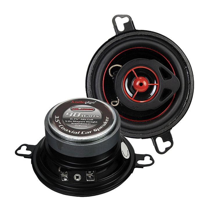 Pair Of 3.5 Inch 2-way 90 Watts Stereo Car Speaker Car Audio Speaker  - Black