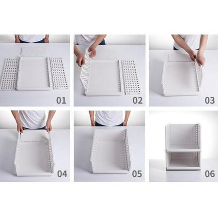 "1PC Foldable Stackable Drawer Type Storage Basket for Bedroom Wardrobe Closet Organize Size:15.3""x11.7""x6.7"" - image 3 de 8"