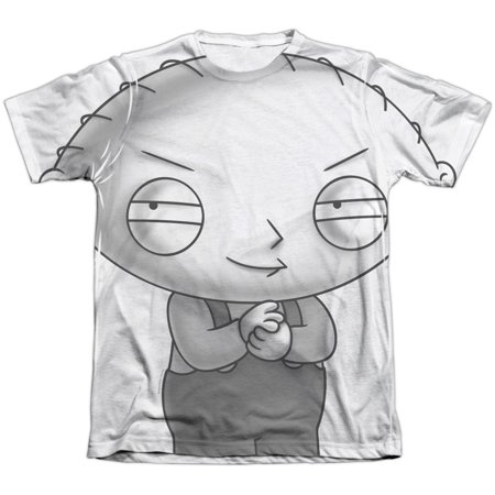 Family Guy Men's  Stewie Head Sublimation T-shirt - Stewie Family Guy Halloween