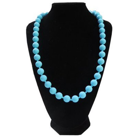 Fashionable Silicone Teething Necklace for Mom to Wear with Teething Baby - Lisa (Light